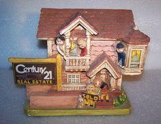 Century 21 1978 VTG Rare Ceramic Real estate Agent Realtor House Sculpture