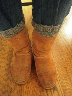 Updated Pattern ~ Easy Boot Cuffs DIY Pattern