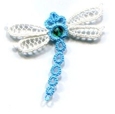 Free Tatting Patterns and Images dragonfly -Tatted Dragonfly 1 - Celtic Picots Irish Crochet, Crochet Motif, Crochet Patterns, Crochet Butterfly, Crochet Flowers, Butterfly Pattern, Crochet Crafts, Yarn Crafts, Needle Tatting Patterns