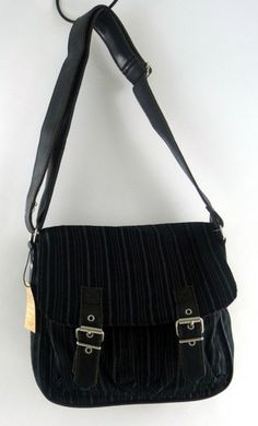 Tokyo Bay Black Savile Row Shoulder Satchel Handbag Purse Crossbody Bag