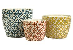 S/3 Kelly Bright Planters on OneKingsLane.com - another great set of plant containers
