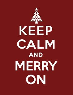Free 8x10 printable - Keep Calm and Merry On by saltandpaperdotcom, via Flickr