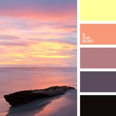 Color Palette No. Sunset Color Palette, Orange Color Palettes, Sunset Colors, Colour Pallette, Colour Schemes, Colour Combinations, Color Me Mine, Color Lila, Pink Color