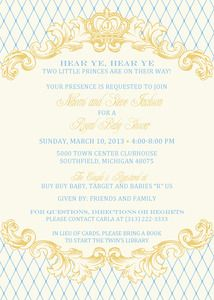your prince is on the way royal baby shower invitation ready to be with