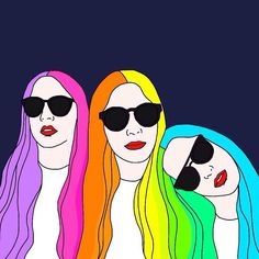 Its #HAIMtime. This months hashtag project #MHPalbumcover asked for clever spins on album artwork like this @misswonderlandart rainbow portrait of @haimtheband. by music