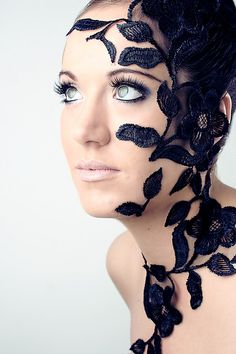 Mmmm Today I will glue lace to my face...