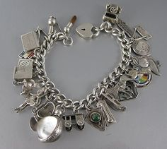 Charm bracelet. I collected state charms on vacation.