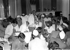 Sardar Vallabhbhai Patel addressing Congress workers at Ambala during his visit in March, 1949