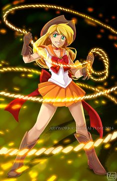 Sailor Applejack by *YokaiYume on deviantArt