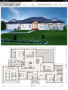 - House Plans, Home Plan Designs, Floor Plans and Blueprints My House Plans, House Layout Plans, 4 Bedroom House Plans, Bungalow House Plans, Modern House Plans, House Layouts, Small House Plans, Modern House Design, House Floor Plans