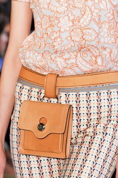 Tory Burch belt pouch, Spring 2014, MXS. Now that's a different take on the fanny pack.