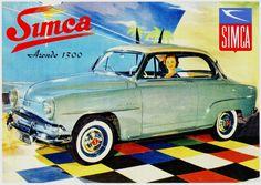 Simca Aronde 1300 http://jpdubs.hautetfort.com/archive/2013/08/21/pubs-retro-auto-simca.html