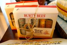 Winnie the pooh themed baby shower Honey Bee Game prize/gift ideas: Burts Bees Essential Kit packages sold at most local drug stores (Walgreens, CVS, etc) for a great price ($10-20)