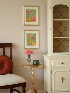 Framed Scarf: DIY your own custom wall art with personal items, like this cut up and framed scarf!