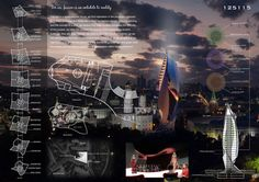 : Fashion Palace In The Red Square Competition (Moscow ( Honorable Mention 01 ) / Chao Yang , Xiaoyu Fu ( China ) Revit Architecture, Architecture Board, Architecture Graphics, Architecture Drawings, Concept Architecture, Presentation Board Design, Architecture Presentation Board, Portfolio Presentation, Perspective Sketch