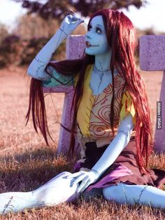 Someone said this is from Corpse Bride. Repinning to correct it. This is Sally from the Nightmare Before Christmas!