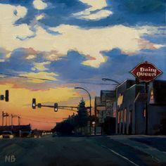Highway Ten original fine art by Nora Bergman