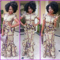 NATURAL HAIR IN GORGEOUS AFRICAN DRESS