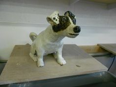 Side view of ceramic Jack Russell