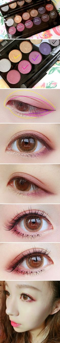 Korean Natural Eyebrow Tutorial by Liah Yoo - Korean Makeup Anime Makeup, Kawaii Makeup, Korean Eye Makeup, Korea Makeup, Asian Makeup Tutorials, Sleek Makeup, Plum Eyeshadow, Ulzzang Makeup, Beauty Makeup