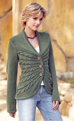 slanted hourglass cable cardigan