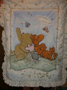 Classic pooh nursery - Keeping with the theme used for Makayla when she was baby.