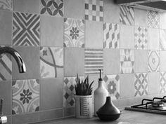 carrelage Leroy Merlin Gatsby Artens gris patchwork façon carreaux de ciment