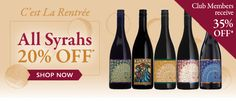 C'est La Rentrée ~ 20% OFF all Bonny Doon Vineyard Syrahs! Club Members receive 35% OFF! http://conta.cc/18NDtcg