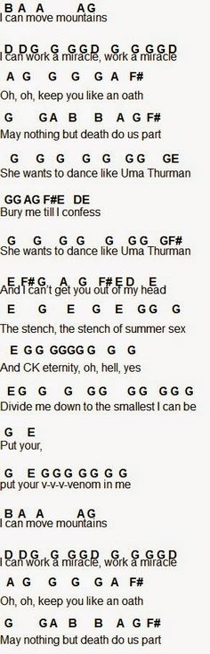 The guitar part (All naturals unless stated otherwise)   E GE BbBE CBA BAG AGF#EDE   E GE BbBE CBA GABB BC#D#E