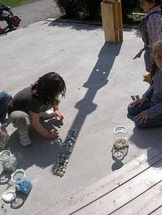 Develop a Sense of Wonder - loose parts and shadows- uses patterns and shadows to create interest and curiosity in children