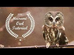 Beaded Macramé Owl Tutorial - YouTube