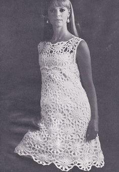 PDF crochet dress sleeveless vintage crochet by TheVintageWorkbox