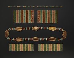 Cowrie Shell Girdle, Lion Bracelets, Bracelets with the Name of Amenemhat III, and Anklets of Princess Sithathoryunet
