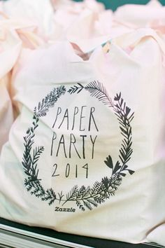 Oh So Beautiful Paper: Paper Party 2014! Tote bags from Zazzle and designed by Mr. Boddington's Studio / Photo Credit: Charlie Juliet Photography #paperparty2014