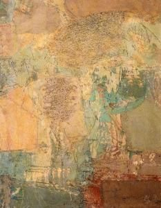 Domenico Spinosa (Napoli, 1916 - 2007) Alberi e sole, 1959 Olio su tavola, 80 X 97 cm Gallerie d'Italia - Piazza Scala, Milano.