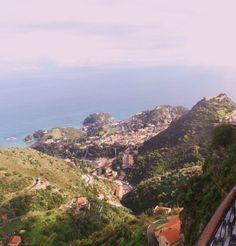 """Castel Mola - Blick auf die """"Isola Bella"""""""