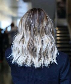 Ombré white ash blonde