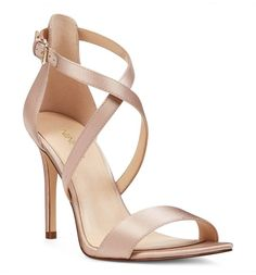 Adoring these natural satin heels that pair perfectly with just about any and every bridesmaids dress.