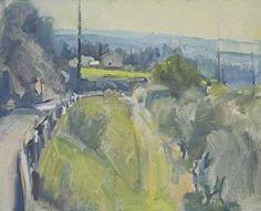 Landscape Less Green 3 by frances knight Oil ~ 40cm x 50cm