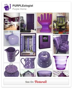Love the color purple as much as we do? How far are you willing to go? Purple hair? Purple home? Let's talk purple everything!