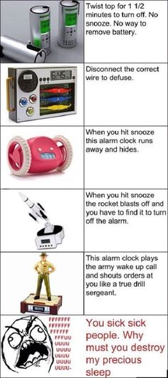 Alarm clocks you can give to your worst enemys for birthday