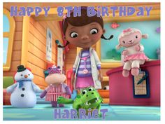 Doc Mcstuffins A4 Full Sheet Edible Cake Topper by Personalisethat, £2.99