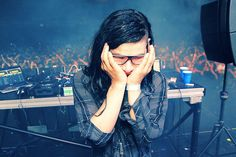 Skrillex aka Sonny Moore. Young talent - at the age of 24 he's already at the top of the world! Yay for Sonny Moore!