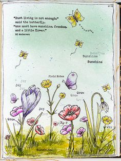 Layers of ink - Thoughtful Flowers Watercolor Garden Tutorial by Anna-Karin Evaldsson. Made with stamps from the Simon Says Stamp Send Happiness release. Art Journal Pages, Art Journals, Junk Journal, Craft Stick Crafts, Paper Crafts, White Gel Pen, Love Stamps, Flower Stamp, Simon Says Stamp