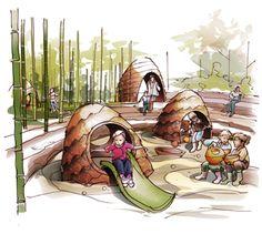 Arboretum Playscape  National Arboretum Canberra  Arterial