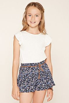Girls Belted Shorts (Kids)