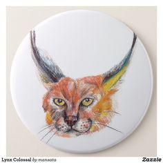 Shop Lynx Colossal 6 Cm Round Badge created by mansata. Lynx, Mandala Art, Badge, Art Drawings, Cute Animals, Pretty Animals, Cutest Animals, Cute Funny Animals, Badges