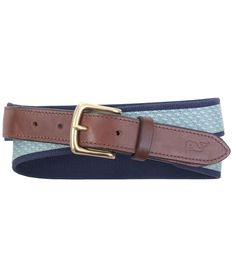 Vineyard Vines Vineyard Whale Canvas Club Belt - Mens