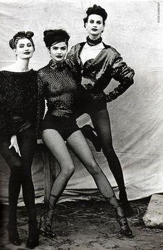 Helena Christensen and Kristen McMenamy by Peter Lindbergh - Vogue Paris Oct. 1990
