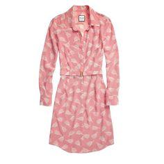 Shirtdress Rose Tassels Print